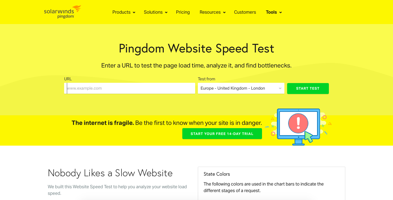 Pingdom Tools website