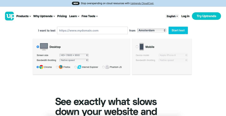 Uptrends website